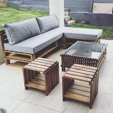 Garden Furniture From Wooden Pallets Catchy Pallet Patio Furniture