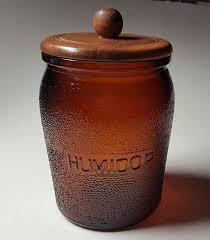 vintage duraglas amber brown glass jar humidor dun rite wood nov co brooklyn