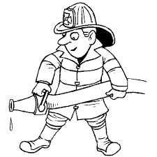 Small Picture Fire fighter coloring in page Professions Theme Pinterest