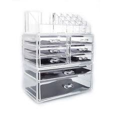 acrylic cosmetic table organizer makeup holder case box jewelry storage 8 drawer