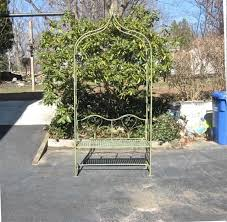 arbor garden arch with bench 95 high wrought iron antique mint finish