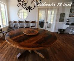 72 round pedestal table lighter and matte polyurethane finish reclaimed
