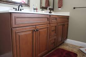 Fabuwood Cabinets Bathroom Cabinetry Cinnamon Glaze Three Stack - Bathroom vanity remodel