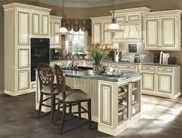 Antique White Distressed Kitchen Cabinets