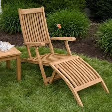 image of wood teak lounge chair