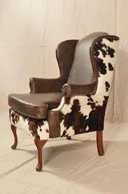 cloth chairs furniture. cow hide covered wing chair pesquisa google cloth chairs furniture