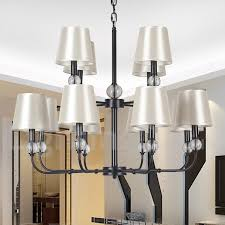 12 light rustic retro black hotel 2 tier large chandelier candle style chandelier