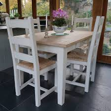 fonthill table with ladder back chairs hand painted