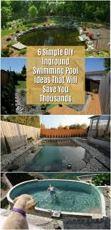 Backyard Swimming Pool Designs Beauteous 48 Simple DIY Inground Swimming Pool Ideas That Will Save You