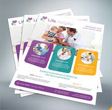Healthcare Brochure Simple 44 Hospital Flyer Templates Sample Templates