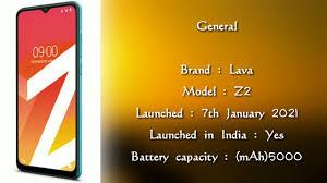 lava Z2 Model