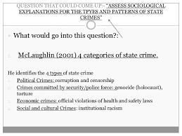 state crime sociology crime and deviance a lay out for an essay