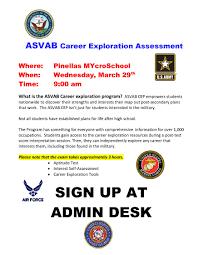 recent news florida charter schools pinellas mycroschool asvab career exploration