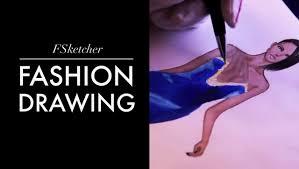 Velvet Dress Fashion Drawing Youtube