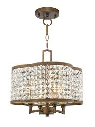4 light pbz mini chandelier flush mount