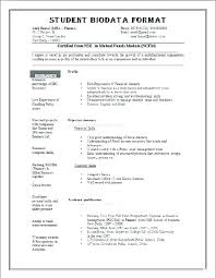 Biodata Template Free Download What It Is 7 Resume Templates