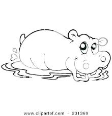 Hippopotamus Coloring Pages Hippopotamus Coloring Page Hippo