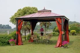 gazebo design wonderful 6 patio canopies and gazebos for outdoor canopy curtains inspirations 13