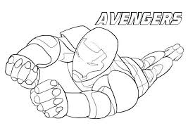 Avengers Infinity War Hulkbuster Coloring Pages