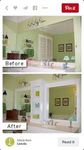 diy bathroom mirror frame. You Have To Do A Few Changes Improve The Look Of Bathroom Mirror. Framing Your Mirror With Simple Stock Molding And Wooden Embellishments. Diy Frame