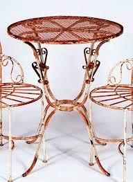 wrought iron 24 bistro patio table