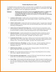15 Awesome Scholarship Resume Template Resume Sample Template