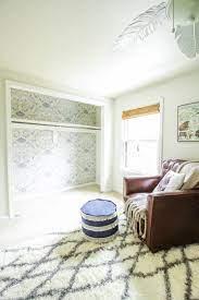 How to Wallpaper a Closet: Nursery ...