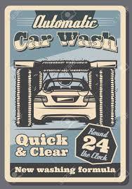 Car Wash Tunnel Design Car Wash Retro Poster Of Vehicle Automotive Service For Garage