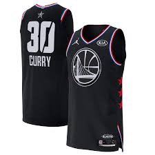 Warriors 2019 Stephen Golden Curry State Black Nba All-star