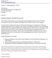 Supervisor Cover Letter Production Examples Manager Sample Stibera