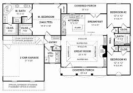 simple 4 bedroom 1 story house plans best of two y house plans 4 bedroom house
