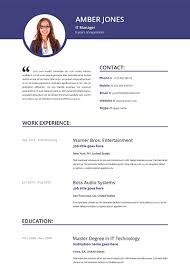 Chic Idea Resume Template With Photo 9 12 More Free Resume