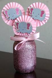 gray and pink glitter elephant centerpiece cupcake by a girl baby shower decorations diy stuff baby shower decorations