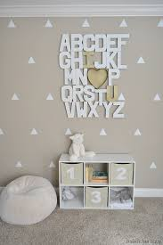 alphabet nursery art project nursery