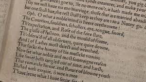 Prose And Verse In Shakespeares Plays The British Library