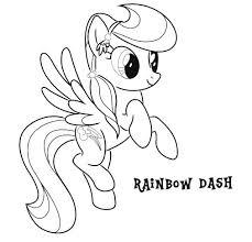 Rainbow Dash Coloring Page