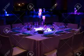 Candle Light Dinner Table Setting Romantic Dinner Setup Or Holiday Table Setting Red Decoration