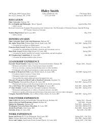 41 Awesome Undergraduate Resume Sample For Internship – Template Free