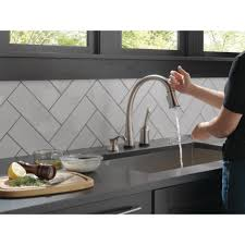 Touch Technology Kitchen Faucet Delta Pilar Single Handle Standard Kitchen Faucet With Touch
