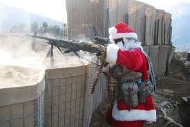 Father Christmas delivers presents in Afghanistan - BoreMe