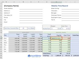 Overtime Calculation In Excel Format Excel Formula To Calculate Hours Worked And Overtime With