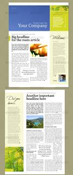Newletter Formats 46 Printable Newsletter Templates In Psd Indesign Formats