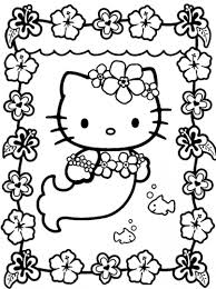 Small Picture Coloring Pages Kids Hello Kitty Mermaid Coloring Pages Mermaids