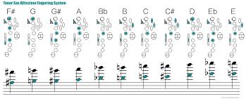 Saxophone Fingering Chart The Woodshed Jazz Improvisation Saxophone Altissimo Systems And 20