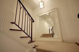 traditional staircase mirror