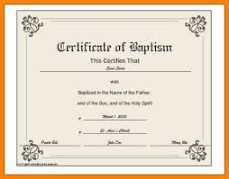 Sample Baptism Certificate Template Stunning 48 Baptismal Certificate Template Credit Letter Sample Download