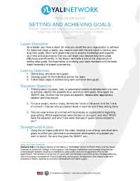 Short Term Professional Goals Pdf Discussion Guide Setting And Achieving Goals Kuai