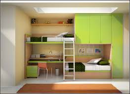green and cream solid wood twin bunk bed with wardrobe amd desk also small chest of drawer using chrome metal aldder with lofted bed with desk and kids bed