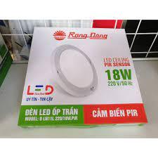 Đèn LED Ốp trần Mỏng Tròn Cảm Biến 18W Rạng Đông , Kích Thước 22x22 -  Model: D LN11L - Đèn trần Thương hiệu Rạng Đông