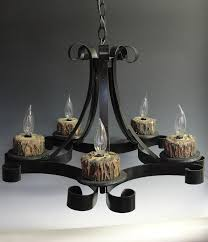 old wrought iron chandeliers with unique wood lamp holder for living or dining room lighting ideas